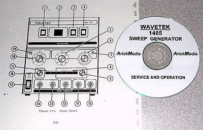 Wavetek 1405 Sweep Genrator Operating Service Manual