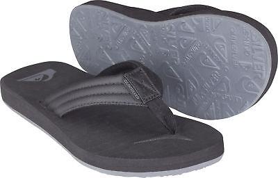 - Quiksilver Mens Carver Tropics Beach Casual Sandals - Black/Black/Gray