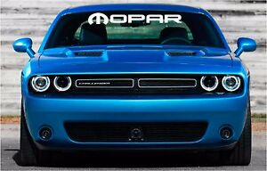 mopar logo windshield banner vinyl decals stickers