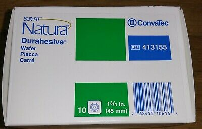 Convatec 413155 Natura Durahesive 1-34 4 Boxes Of 10. Total Of 40 Wafers