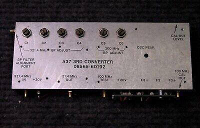 Hp 8569b Spectrum Analyzer A37 3rd Converter Assembly 08565-60192