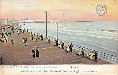 ATLANTIC CITY NJ~NATIONAL ELECTRIC LIGHT TO ATHENS GEORGIA RAILWAY CO POSTCARD