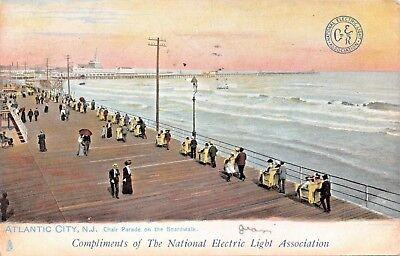 ATLANTIC CITY NJ~NATIONAL ELECTRIC LIGHT TO ATHENS GEORGIA RAILWAY CO POSTCARD