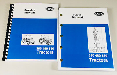Long 360 460 510 Tractor Service Repair Shop Manual Parts Catalog Technical Book