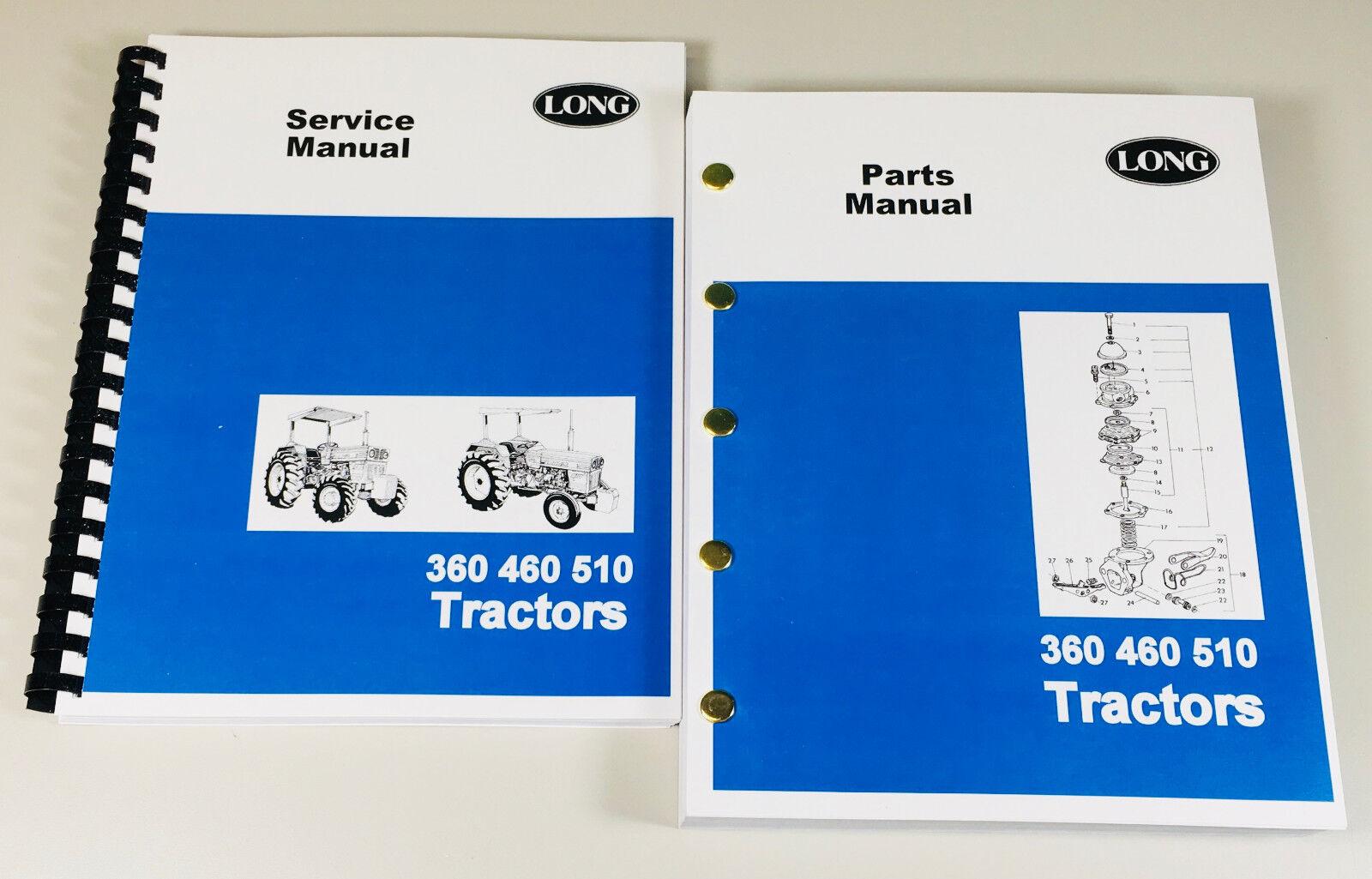 Long 360 460 510 Tractors. Complete Repair/Overhaul & Parts