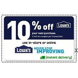 THREE (3x) Lowes 10% OFF LowesCoupons- Online & InStore__FAST Delivery_3-min