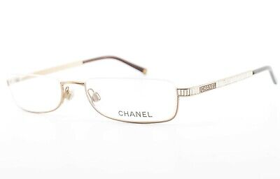 CHANEL Brille 2097-B c.304 53[]19 135 Luxury Reading Frame L Gold Italy c2007