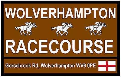 HORSE RACING TOURIST SIGNS (WOLVERHAMPTON) - FUN SOUVENIR NOVELTY FRIDGE MAGNET