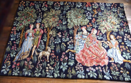 """Tapestry Flandres Point of Halluin """" Scenes Galantes """" 74 13/16in x 52in"""