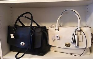 NWT Coach Legacy Large Harper Satchel in Leather Purse Bag White