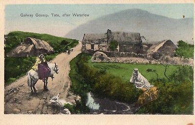 GALWAY GOSSIP TATE AFTER WATERLOW IRELAND IRISH POSTCARD by STEWART & WOOLF