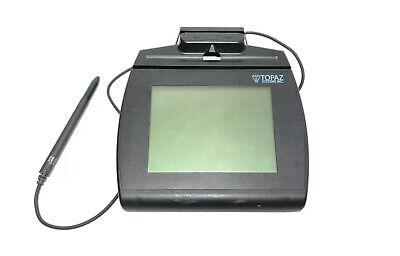 Topaz Signature Capture Pad Tm-lbk766se-hsb-r 4x5 W Magnetic Reader Stylus Pen