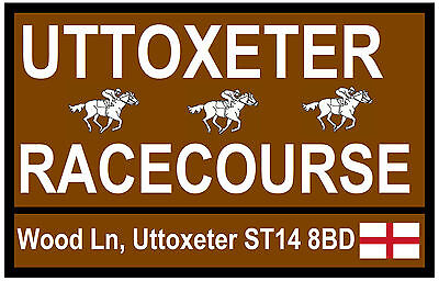 HORSE RACING TOURIST SIGNS (UTTOXETER) - FUN SOUVENIR NOVELTY FRIDGE MAGNET