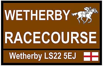 HORSE RACING TOURIST SIGNS (WETHERBY) - FUN SOUVENIR NOVELTY FRIDGE MAGNET