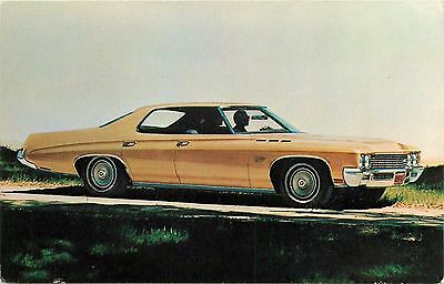 1971 Buick LeSabre Custom Hardtop Sedan Advertising Car Automobile Postcard