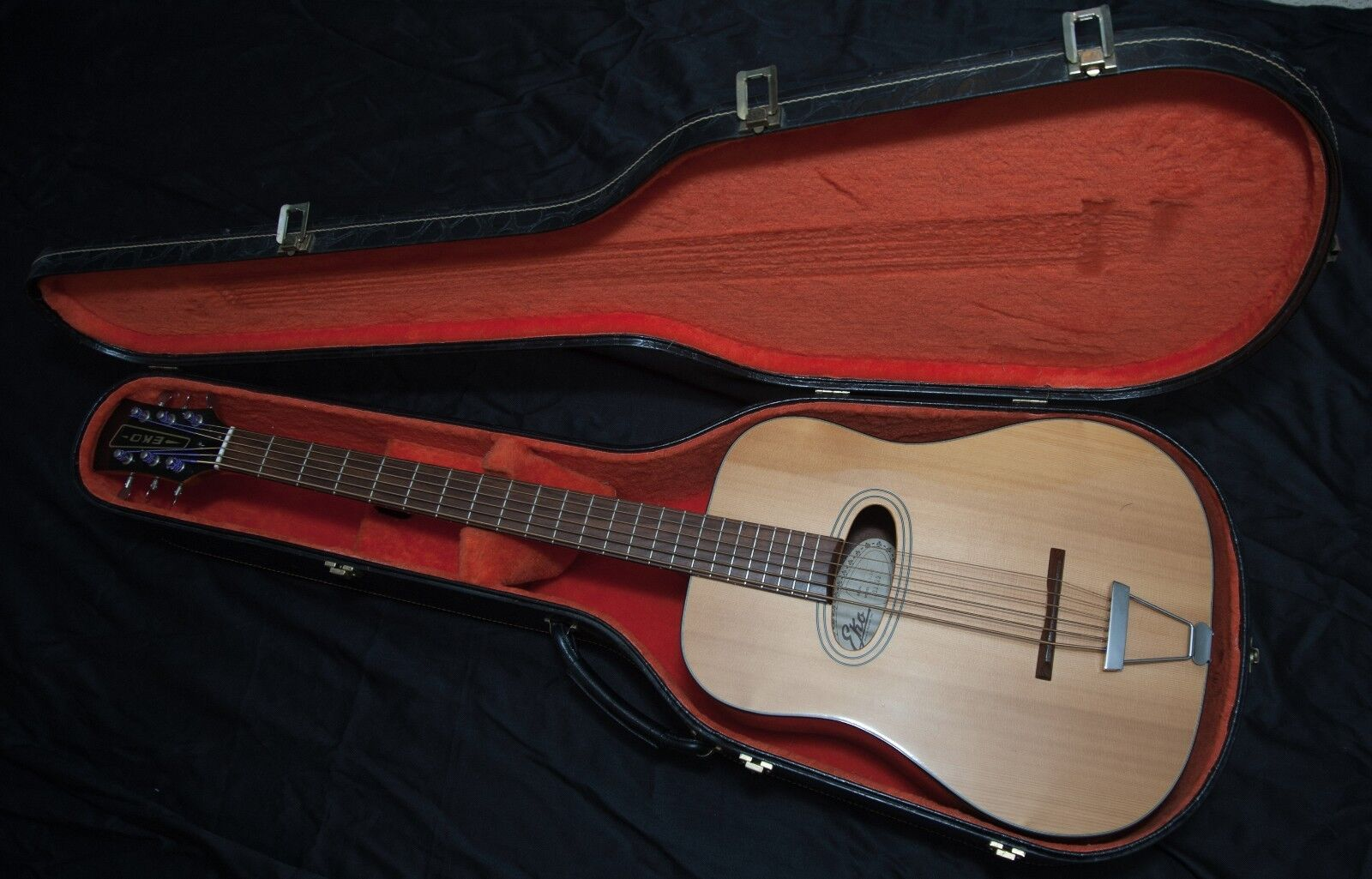 Italian Eko Six (6) String Acoustic Bass Model B.a/6 Serial #191179  Very Rare