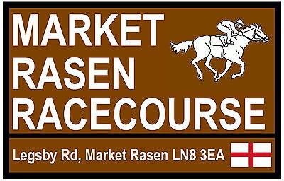 HORSE RACING TOURIST SIGNS (MARKET RASEN) - FUN SOUVENIR NOVELTY FRIDGE MAGNET