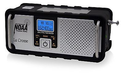 Emergency Weather Alert Radio Noaa Am Fm Solar Charger Hand Crank Flashlight
