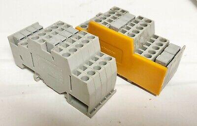 Wago 281 4mm2 Lot Of 10- Terminal Blocks W 8- Adjacent Jumper 10122