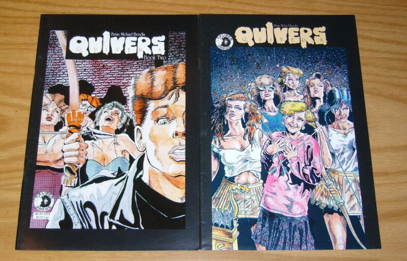Quivers #1-2 FN complete series - early work by brian michael bendis 1991 set