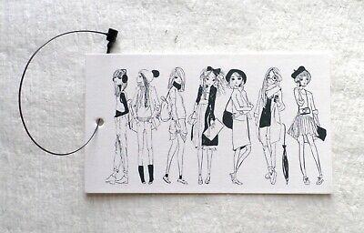 100 Hang Tags Retail Tags Fashion Girls Boutique Garment Tags 100 Plastic Ties