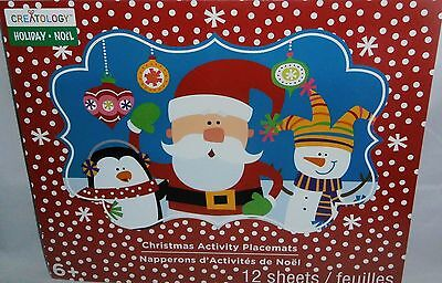 CHRISTMAS ACTIVITY PLACEMATS by Creatology  12 Sheets 4 DESIGNS - Christmas Activity Sheets