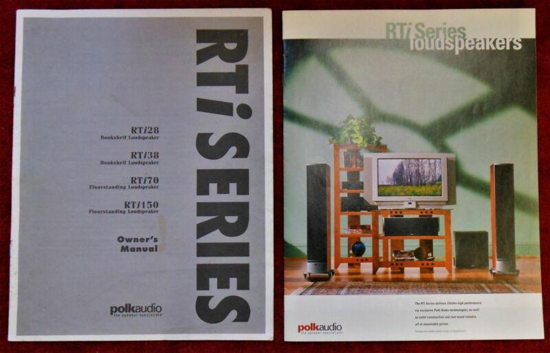 **ORIGINAL** TWO (2) Polk Audio RTi Series Product Brochure & Owner