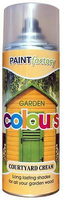 Garten-spray (X24 Hof Creme Garten Spray Sprühfarbe Dauerhafte Schatten für Holz 400ml)