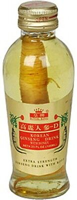 1 Bottle Korean Ginseng Drink Extra Strength With Whole Ginseng Root & Honey