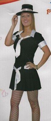 er Girl Fancy Dress Pinstripe Costume Teen UK 6-8 (Teen Gangster Kostüm)