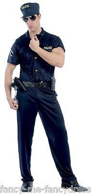 Herren Special Agent Polizist Fbi Swat Uniform Kostüm Kleid Outfit (Swat Kostüm Große)