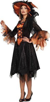 Mot - Damen Kostüm elegante Hexe Hexenkostüm zu Halloween Karneval