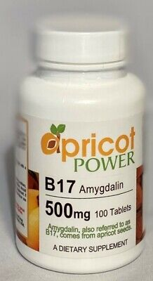 APRICOT POWERB17 Amygdalin 500 mg  - 100 Tablets, from Apricot Seeds
