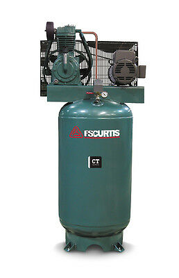 Fs Curtis Ct Series Simplex Vertical Tank Mounted Compressor 7.5 Hp 360200-208