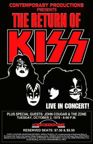 KISS Dynasty R.O.KISS 20 x 31 St. Louis Checker Dome 10/02/79 Custom Poster