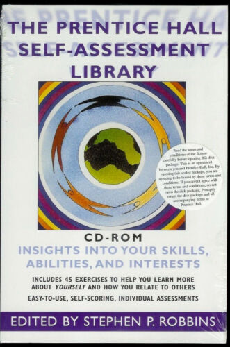 Super Rare Sealed* 1999 Prentice Hall Self-Assessment Library CD-ROM SP Robbins
