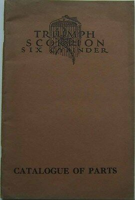 Triumph Scorpion Original Illustrated Spare Parts Catalogue circa 1931