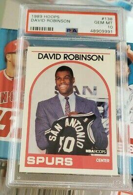 1989 NBA Hoops David Robinson RC #138, NBA HOF PSA 10 Gem Mint BRAND NEW GRADE