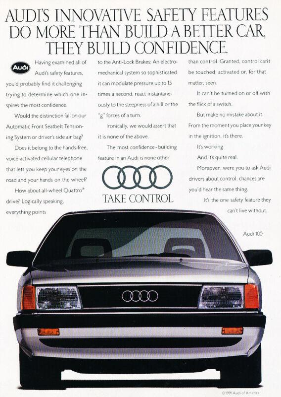 1991 Audi 100 - Innovative - Classic Vintage Advertisement Ad D189