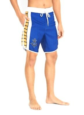 Dragon Swim Trunks (Dragon Ball Z Mens Vegeta Cosplay Swim Trunks Board Shorts Size L)