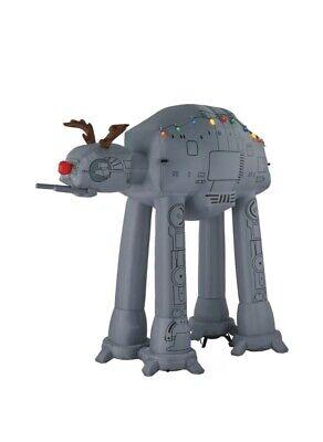 Star Wars Disney AT AT giant airblown inflatable 9 ft NIP Gemmy AT-AT Christmas