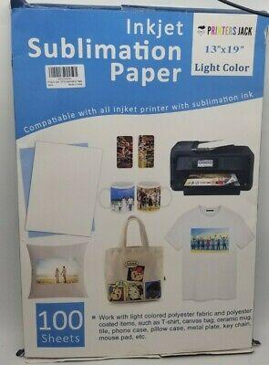 100 Sheets 13 X19 Sublimation Ink Paper Heat Press 4 Inkjet Printers Jack