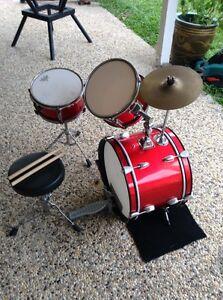 4 piece junior drum kit plus sticks and seat Coolum Beach Noosa Area Preview