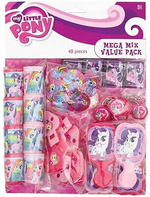 My Little Pony Party Bag Fillers (48 PC My Little Pony Birthday Party Favor Pack Prizes Pinata Bag Fillers)