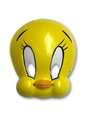 Tweety Bird Mask Cartoon Retro Old School Plastic Mask Costume Accessory PVC - Old School Plastic Halloween Costumes