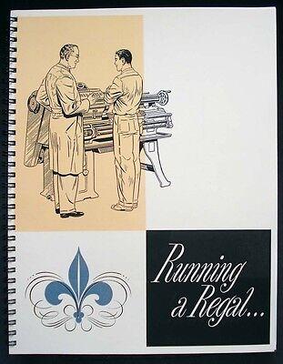 Leblond Regal 13-24 Lathe Manual Running A Regal