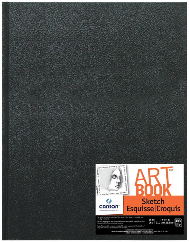 Canson Basic Hardcover Sketchbook, 11 x 14 Inches, 65 lb, 90 Sheets