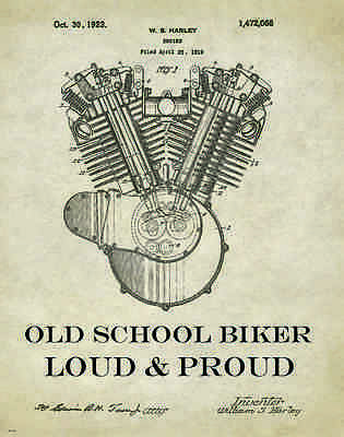 Harley Davidson Motorcycle Racing Motivational Poster Art Helmets Jacket MVP14
