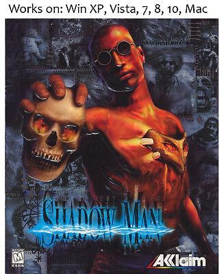 Shadow Man PC Game 1999 Windows XP Vista 7 8 10 ShadowMan  (Shadow Man-pc)