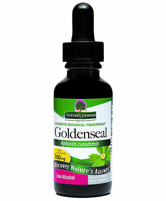 NATURES ANSWER - Goldenseal Root Extract Low Alcohol - 1 fl. oz. (30 ml) Extract Low Organic Alcohol